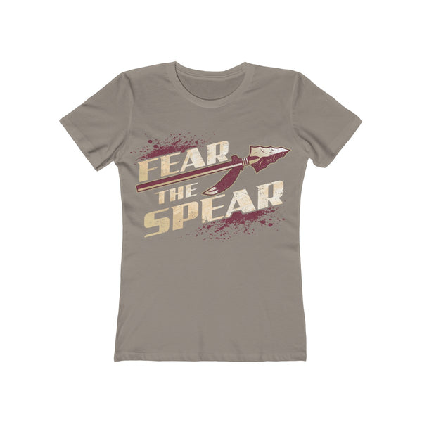 Fear The Spear Ladies Gray T-Shirt