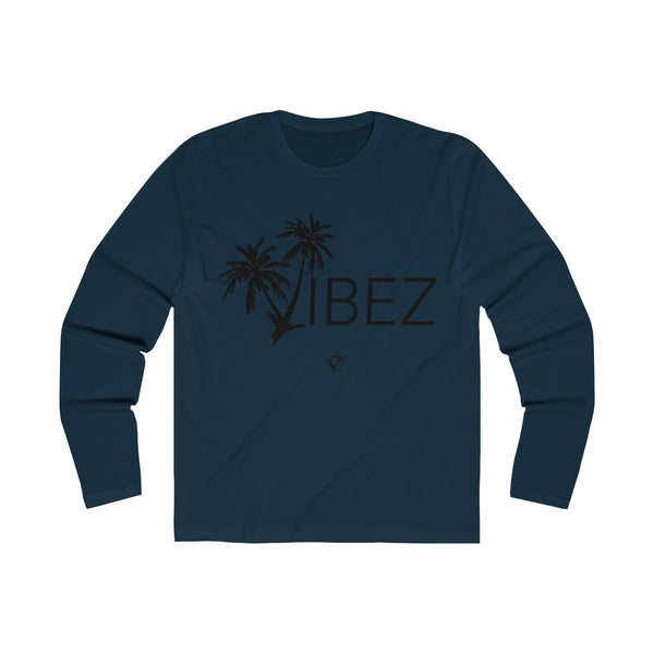 V.I.B.E.Z  Long Sleeve Navy Blue T-Shirt