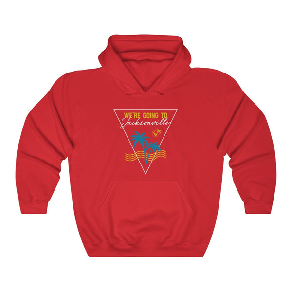 We're Going To Jacksonville Hoodie red