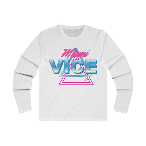 Welcome to Miami Vice Long Sleeve White T-Shirt