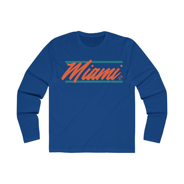 U are Miami Long Sleeve Royal Blue T-Shirt