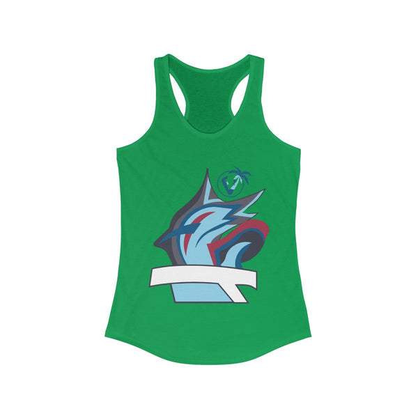 Marlin Vibez Green Ladies Tank Tops