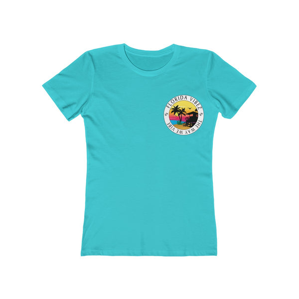 The Way We Vibe Ladies Blue T-Shirt