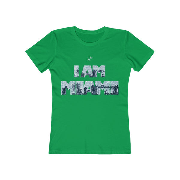 I am Miami Ladies Green T-Shirt