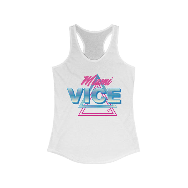 Welcome To Miami Vice White Ladies Tank Tops