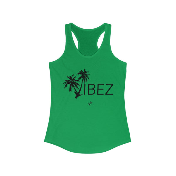 V.I.B.E.Z Green Ladies Tank Tops