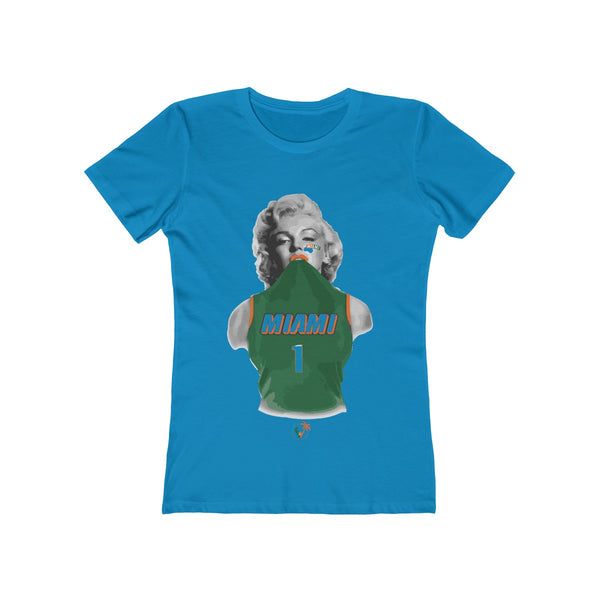 Miami Monroe Turquoise Ladies T-Shirts