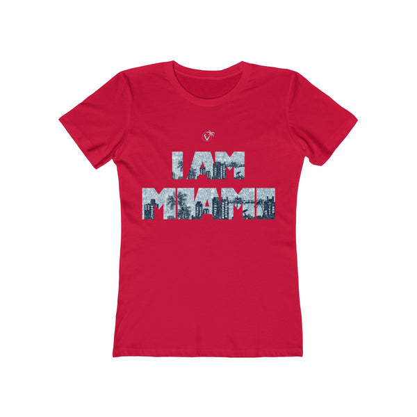 I am Miami Ladies Red T-Shirt