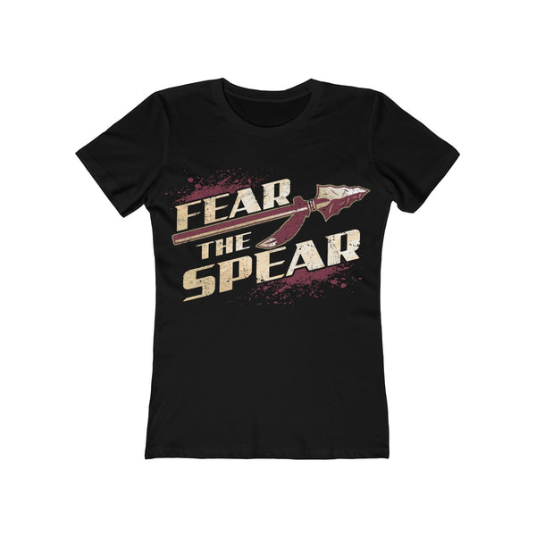 Fear The Spear Ladies Black T-Shirt