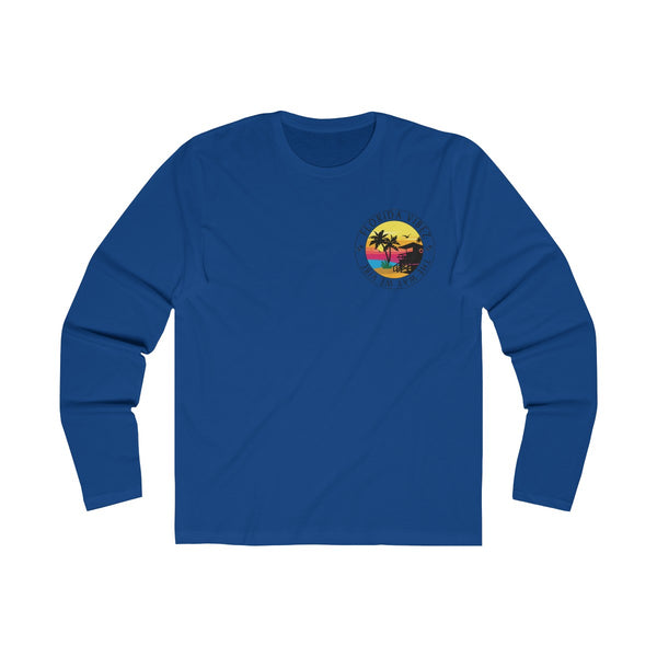 The Way We Vibe Long Sleeve Royal Blue T-Shirt