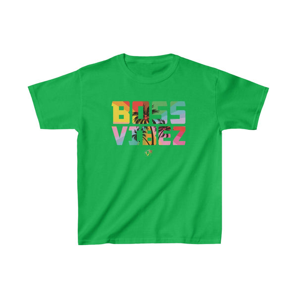 Boss Vibez Kids Green T-Shirt