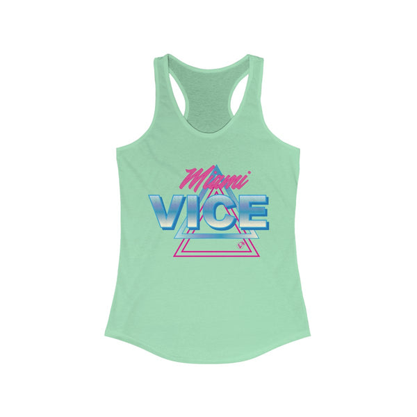 Welcome To Miami Vice Light Green Ladies Tank Tops