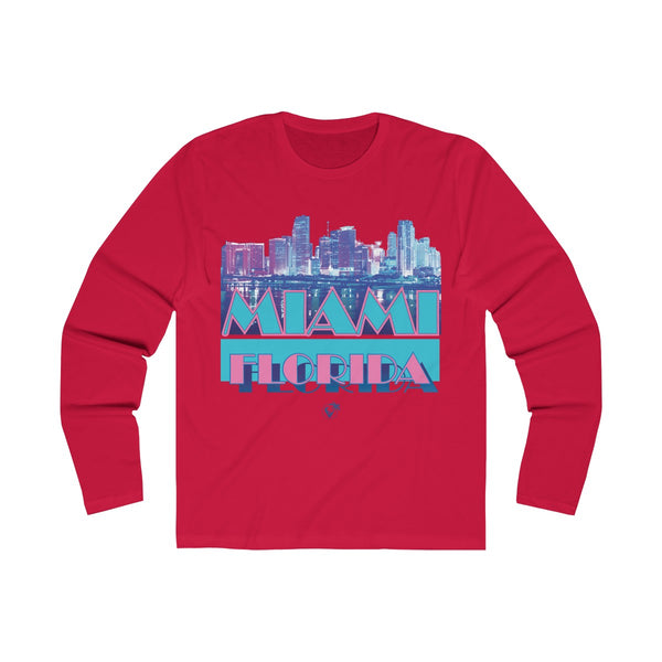 Vice City Long Sleeve Red T-Shirt