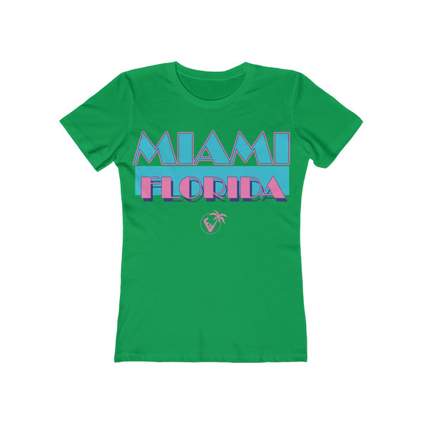 Miami Vice Ladies Green T-Shirt