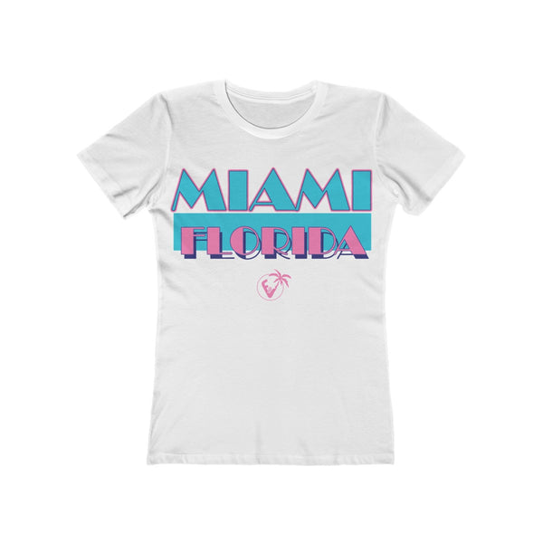 Miami Vice Ladies White T-Shirt