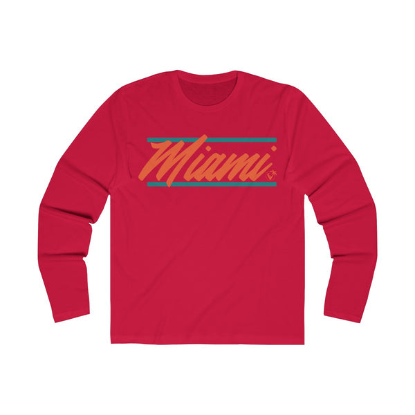 U are Miami Long Sleeve Red T-Shirt