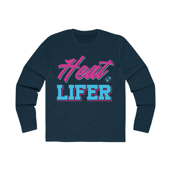 Heat Lifer Long Sleeve Navy Blue T-Shirt