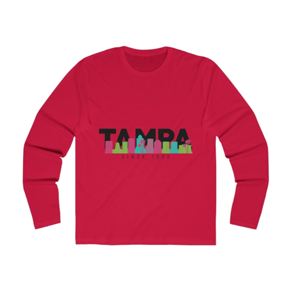 The Bay Long Sleeve solid red
