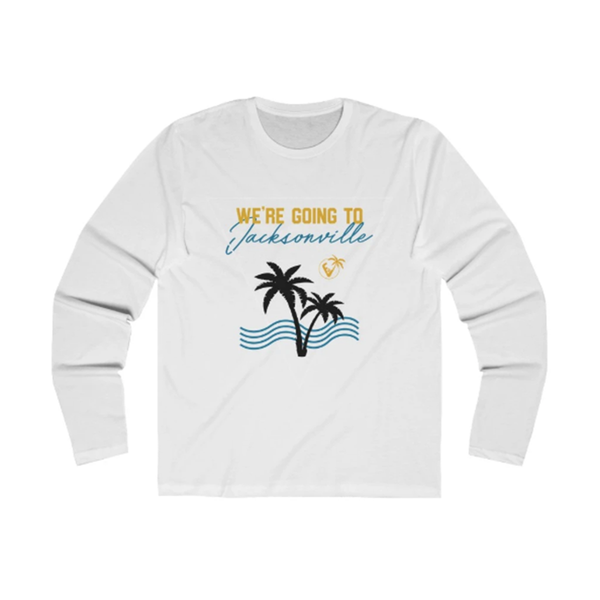 We're Going To Jacksonville Long Sleeve white