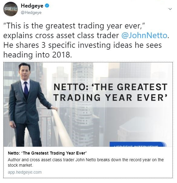 Hedgeye Interview: 'The Greatest Trading Year Ever'