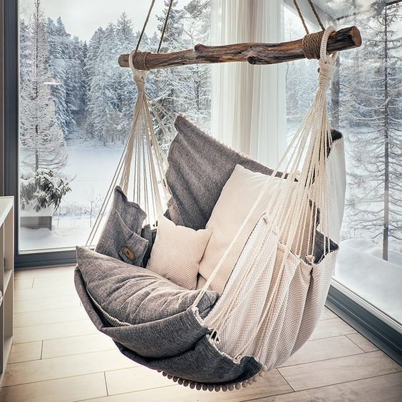 What are the health benefits of a hanging chair?