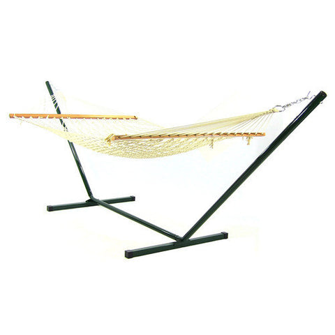 11ft Cotton Rope Hammock & Stand Combo-Combo-SUNNYDAZE DECOR-Hammock UP