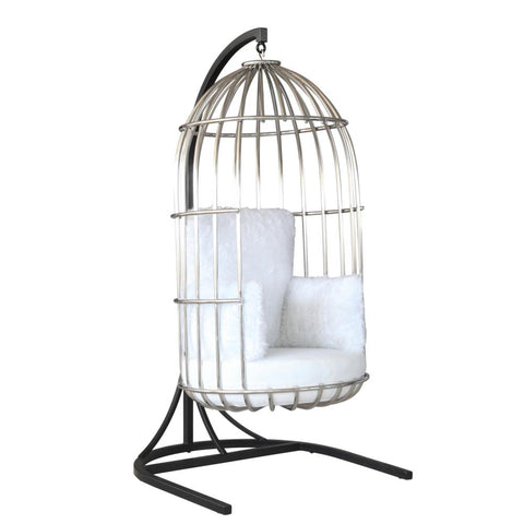 Bird Hanging Chair White-Hanging Chair-Fine Mod Imports-Hammock UP