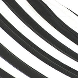 Black and White Quilted Double Fabric Hammock with Spreader Bar-Fabric Hammock-SUNNYDAZE DECOR-Hammock UP