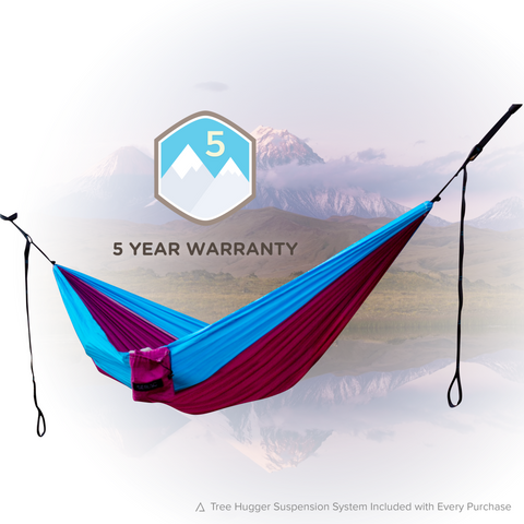 Classic Camping Hammock (Single)-Hammock-SERAC-Wildflower Purple/Teal-Hammock UP