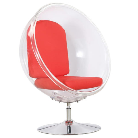 Fine Mod Import Ball Acrylic Chair-Accent Chair-Fine Mod Imports-Red-Hammock UP