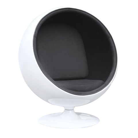 Fine Mod Imports Ball Chair-Accent Chair-Fine Mod Imports-Black-Hammock UP
