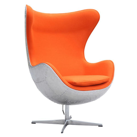 Fine Mod Imports Hardwe Chair Orange-Accent Chair-Fine Mod Imports-Hammock UP