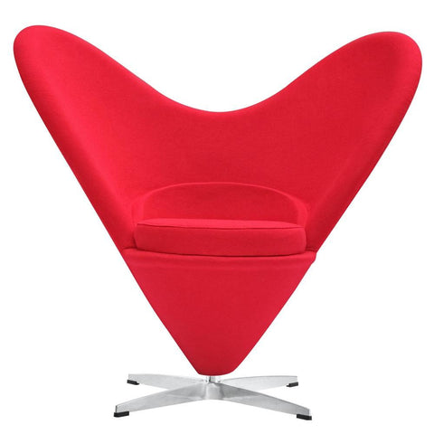 Fine Mod Imports Heart Chair Red-Accent Chair-Fine Mod Imports-Hammock UP
