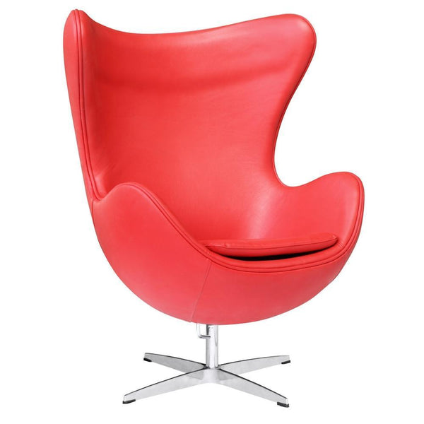 Fine Mod Imports Inner Chair Leather-Accent Chair-Fine Mod Imports-Red-Hammock UP