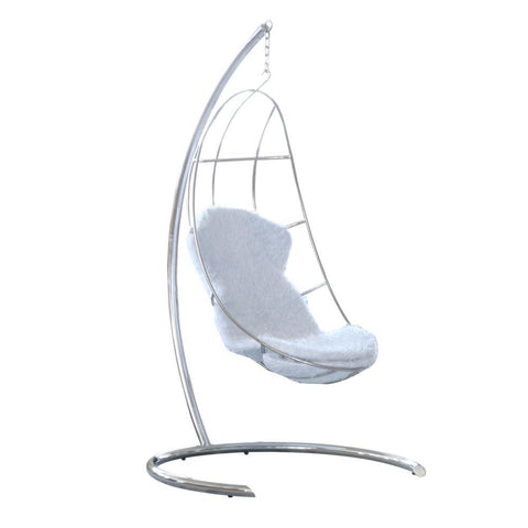 Fine Mod Imports Moon Hanging Chair White-Hanging Chair-Fine Mod Imports-Hammock UP
