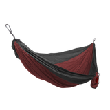 GRAND TRUNK Double Parachute Nylon Hammock-Hammock-GRAND TRUNK-Crimson/Charcoal-Hammock UP