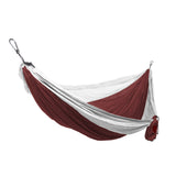GRAND TRUNK Double Parachute Nylon Hammock-Hammock-GRAND TRUNK-Crimson/White-Hammock UP