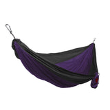 GRAND TRUNK Double Parachute Nylon Hammock-Hammock-GRAND TRUNK-Dark Purple/Black-Hammock UP