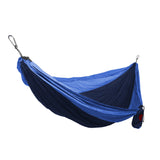GRAND TRUNK Double Parachute Nylon Hammock-Hammock-GRAND TRUNK-Navy/Light Blue-Hammock UP