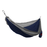 GRAND TRUNK Double Parachute Nylon Hammock-Hammock-GRAND TRUNK-Navy/Silver-Hammock UP