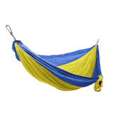 GRAND TRUNK Double Parachute Nylon Hammock-Hammock-GRAND TRUNK-Yellow/Blue-Hammock UP