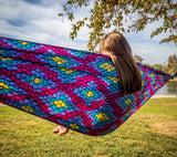 GRAND TRUNK Double Parachute Printed Nylon Hammock - Bubblegum-Hammock-GRAND TRUNK-Bubblegum-Hammock UP