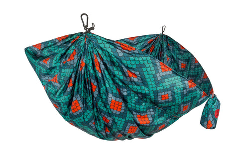 GRAND TRUNK Double Parachute Printed Nylon Hammock - Firebelly-Hammock-GRAND TRUNK-Hammock UP