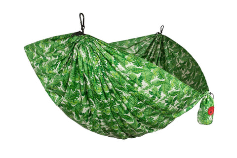 GRAND TRUNK Double Parachute Printed Nylon Hammock - Palms-Hammock-GRAND TRUNK-Palms-Hammock UP