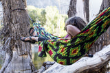 GRAND TRUNK Double Parachute Printed Nylon Hammock - Rasta-Hammock-GRAND TRUNK-Rasta-Hammock UP