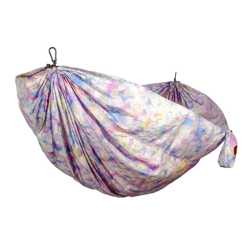 GRAND TRUNK Double Parachute Printed Nylon Hammock - Tie-Dye-Hammock-GRAND TRUNK-Tie-Dye-Hammock UP