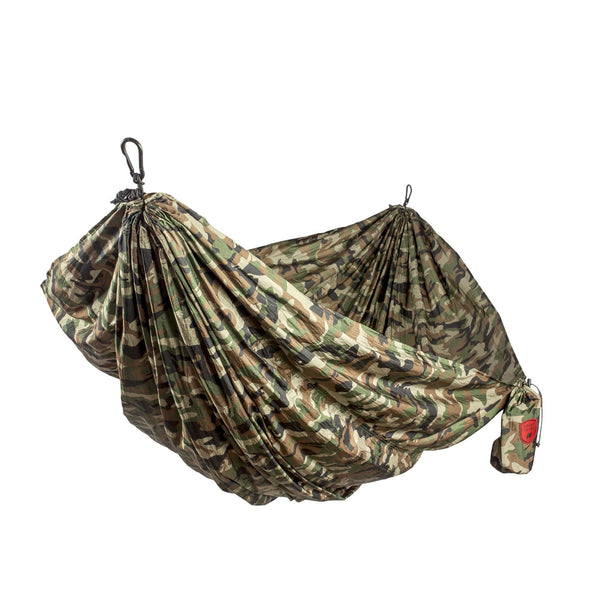 GRAND TRUNK Double Parachute Printed Nylon Hammock - Woodland Camo-Hammock-GRAND TRUNK-Hammock UP