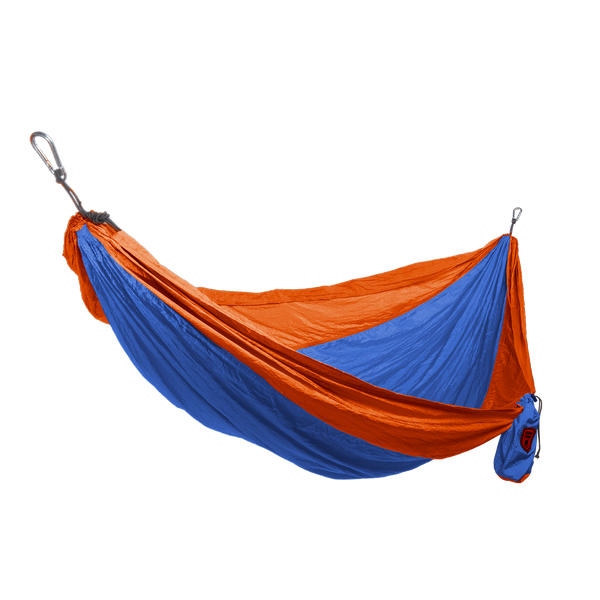 Grand Trunk Single Parachute Nylon Hammock-Hammock-GRAND TRUNK-Blue/Orange-Hammock UP