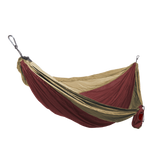 Grand Trunk Single Parachute Nylon Hammock-Hammock-GRAND TRUNK-Crimson/Khaki-Hammock UP