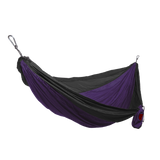 Grand Trunk Single Parachute Nylon Hammock-Hammock-GRAND TRUNK-Dark Purple/Black-Hammock UP